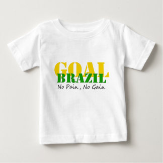 Brazil - No Pain No Gain Baby T-Shirt