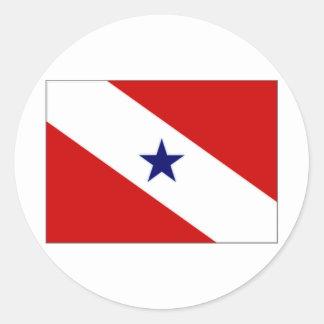 Brazil Paraacute Flag Classic Round Sticker
