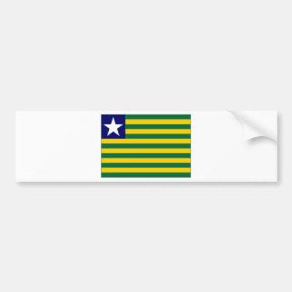 Brazil Piauiacute Flag Bumper Sticker