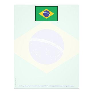 Brazil Plain Flag Customized Letterhead