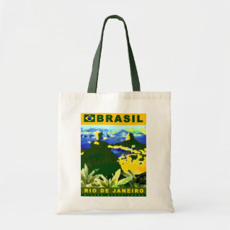 Brazil poster design tote bag