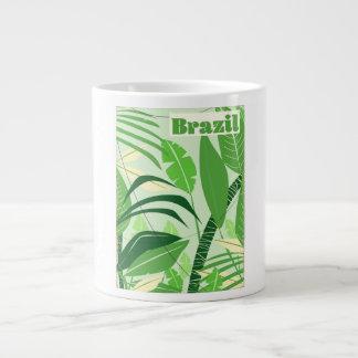 Brazil Rainforest Vintage style vacation print Large Coffee Mug