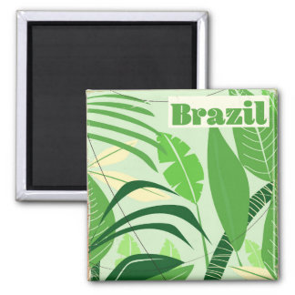 Brazil Rainforest Vintage style vacation print Magnet