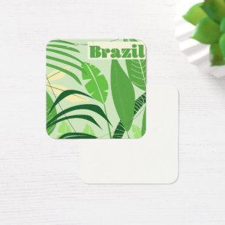 Brazil Rainforest Vintage style vacation print Square Business Card