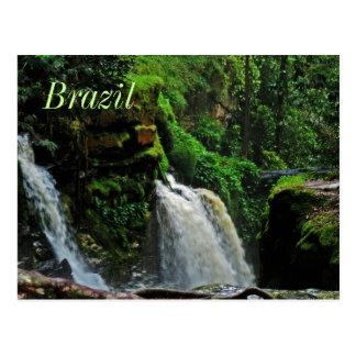 Brazil Rainforest Waterfall Postcard