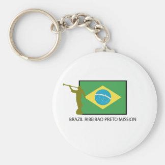 Brazil Ribeirao Preto Mission LDS Keychain