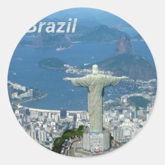 Brazil-Rio-de-Janeiro--Angie-.jpg Classic Round Sticker