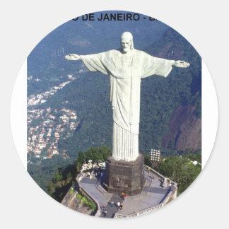 Brazil Rio De Janeiro christ (St.K.) Classic Round Sticker