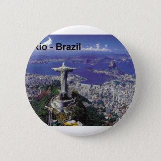 Brazil Rio De Janeiro (St.K.) 2 Inch Round Button