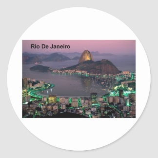 Brazil Rio De Janeiro Sugar Loaf Mountain (St.K.) Classic Round Sticker