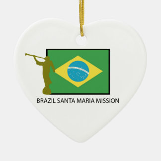 BRAZIL SANTA MARIA MISSION LDS CERAMIC ORNAMENT