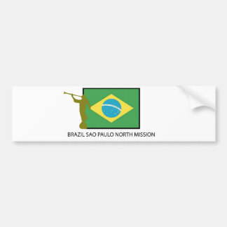 BRAZIL SAO PAULO NORTH MISSION LDS BUMPER STICKER