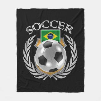 Brazil Soccer 2016 Fan Gear Fleece Blanket