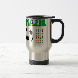 Brazil Soccer  2801 Travel Mug