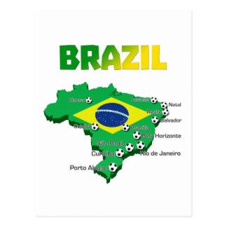 Brazil Soccer  3307 Postcard