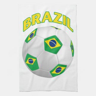 Brazil Soccer Hand Towels