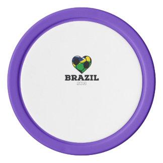 Brazil Soccer Shirt 2016 Poker Chips