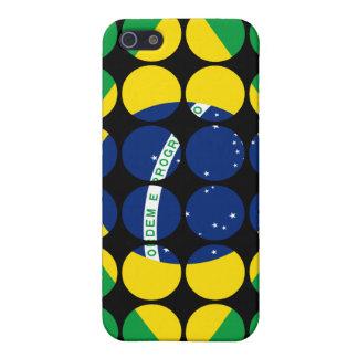Brazil Stylish Girly Chic Polka Dot Brazilian Flag iPhone 5 Cases