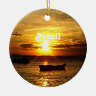 Brazil Sunset Ceramic Ornament