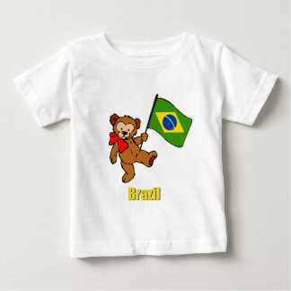 Brazil Teddy Bear Baby T-Shirt