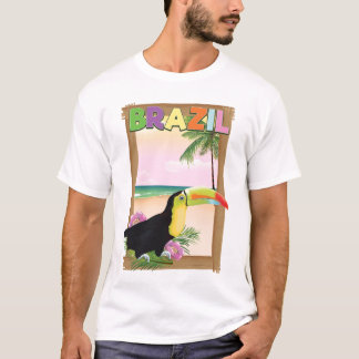 Brazil Toucan beach holiday poster T-Shirt