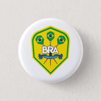 Brazil Traditional Pub Games 1 Inch Round Button