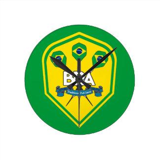 Brazil Traditional Pub Games Round Clock