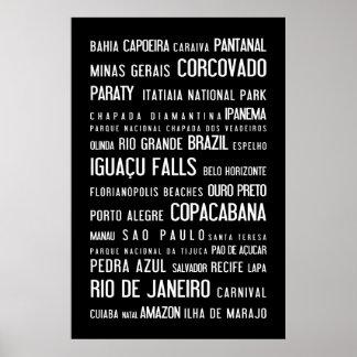 Brazil typographic poster