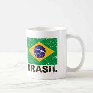 Brazil Vintage Flag Coffee Mug