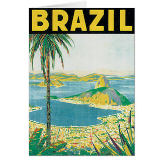 Brazil Vintage Travel Poster Card