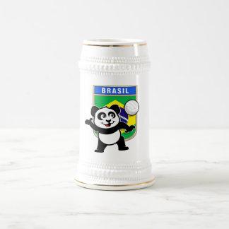 Brazil Volleyball Panda Beer Stein