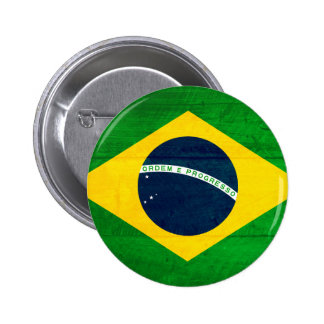 Brazil Wood Flag 2 Inch Round Button