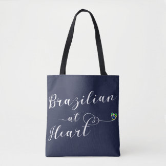 Brazilian At Heart Grocery Bag, Brazil Tote Bag