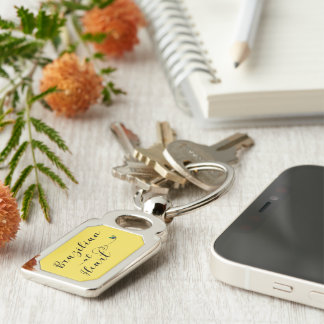 Brazilian At Heart Keyring, Brazil Keychain