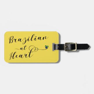 Brazilian At Heart Luggage Tag Template, Brazil