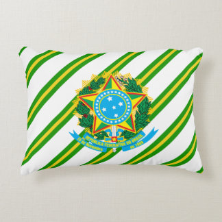 Brazilian Coat of arms Decorative Pillow