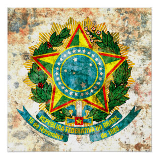 Brazilian Coat of Arms Poster
