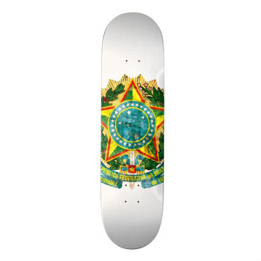 Brazilian Coat of Arms Skate Deck