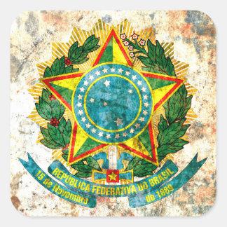 Brazilian Coat of Arms Square Sticker