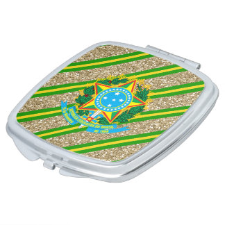 Brazilian Coat of arms Travel Mirrors