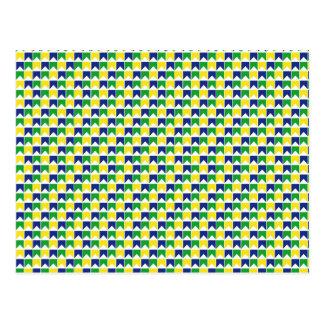 Brazilian colours flag postcard