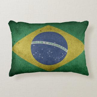 Brazilian flag accent pillow