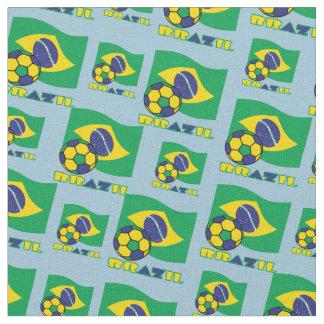 Brazilian Flag and Soccer Ball Fabric