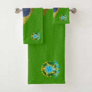 Brazilian flag bath towel set