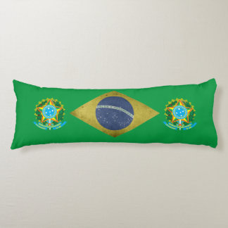 Brazilian flag body pillow
