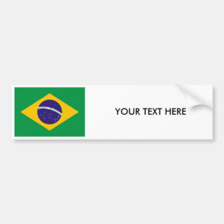 BRAZILIAN FLAG Bumper Sticker