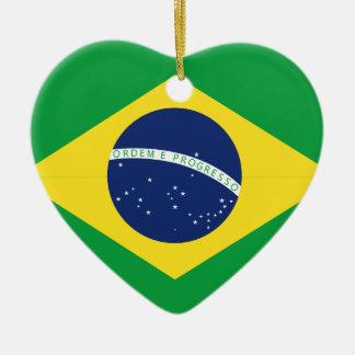 Brazilian flag ceramic ornament