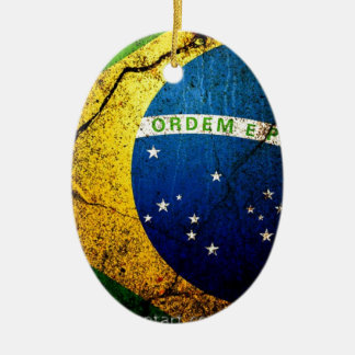 brazilian_flag_ ceramic ornament