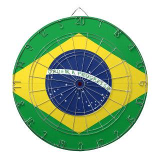 Brazilian flag dartboard