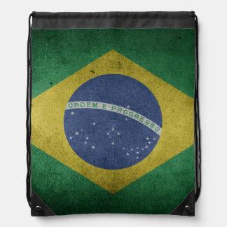 Brazilian flag drawstring bag